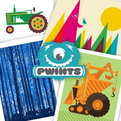 """PWINTS - Great new store filled with prints, """"Art for the young & the young at heart"""" from the folks of OMGposters.com!"""