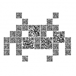 Limited edition prints created from thousands of individual scannable QR codes that each link to Twitter messages from all over the globe.