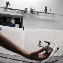 These nano quadrotors at the GRASP Lab in University of Pennsylvania perform some amazing moves and work together to navigate spaces with obstacles.