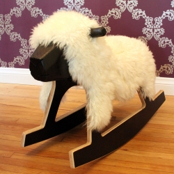 Super cute rocking sheep, handmade in Los Angeles.
