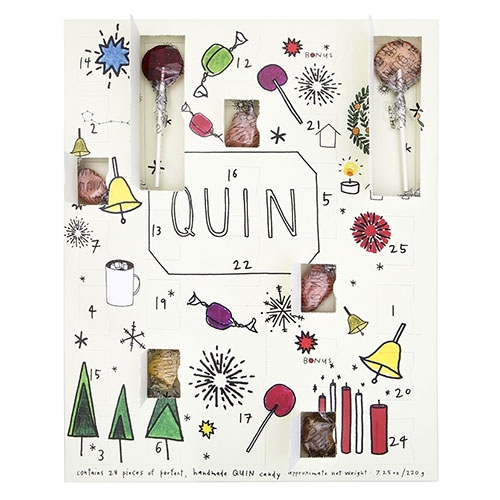 Quin Holiday Candy Countdown! A playful advent calendar of sorts.