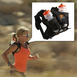 "Orange Mud's HydraQuivers! Single and Double Bottle designs allow for ""Ultralight, ultra running, no bounce awesomeness!"""