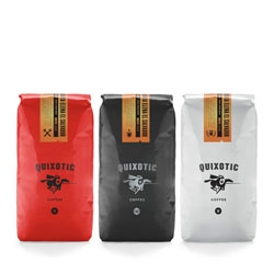 Studio Minneapolis provide the adorable packaging design for Quixotic Coffee.