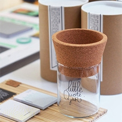 The Little Quote Jar - made of glass and cork.