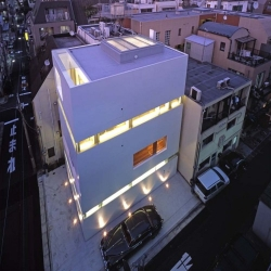 Located in Shinbashi,Tokyo this recently completed small office building has been designed by Dasic Architects.