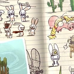 Into the Pixel features some great pre-game art by game designers for games like Rabbids! Dewey! and Viva Piñata!