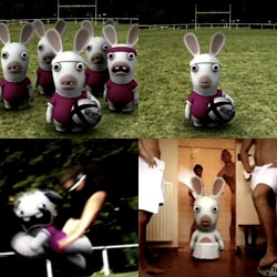 New Rabbids video ~ playing RUGBY!