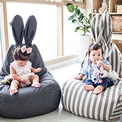 Beanbag chair from the Korean brand Rabito. Looks cute in every room of your house and is great for lounging. The ultimate lucky chair!