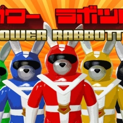 Luke Chuech wanted to see what his creations would look like as Power Rangers, and the result is called POWER RABBOTTO!