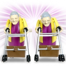 wind up grannies that race... what more can i say?