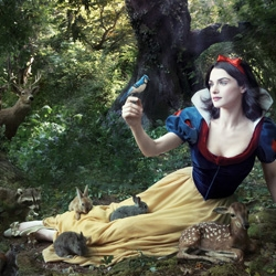 UPDATED Disney and Annie Leibovitz share a few new images of actresses as classics. Rachel Weisz as Snow White, and Julie Andrews as the Blue Fairy with Abigail Breslin as a fairy-in-training.