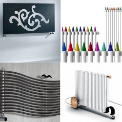 A radiator round up of the coolest new radiators from over 5 global companies. Heated towel racks too. Almost worth moving to a cold climate.... almost!
