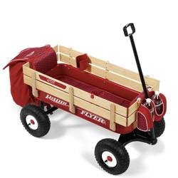Radio Flyer now lets you customize them! Like classic or modern body... normal or all terrain wheels... padding, umbrellas, cup holders, etc...