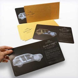 "To promote the quality and confidence of their cars, Italian Copiaincolla Autocenter Mantova sent a mailer in a brown envelope with the message: ""we use X ray"". Inside there was a plate of the X ray test of a vehicle."