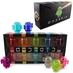 Andrew Bell's Android Mini Collectibles: RAINBOW SET! Best part ~ these little guys' heads open, so you can stash things inside!