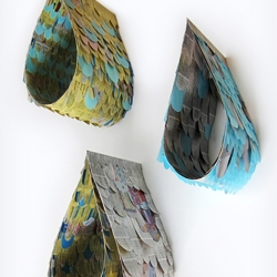 3D recycled raindrops by Mette Hornung Rankin