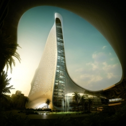 Norwegian Snøhetta has been commissioned by the Ras Al Khaimah investment Authority and RAKEEN to design the Gateway project which is situated at the entrance to the city and will form a landmark for the city entrance.