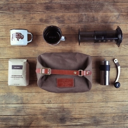 New travel coffee kit – The Rambler. From Stumptown + Wood&Faulk.