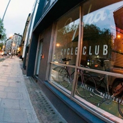 A combination of gallery, shop and café, the Rapha Cycle Club is a meeting place and hub for road riders. The club will be more than just a retail space offering live screenings of road races and a full calendar of exhibitions and events.