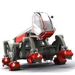 Jon Pope's futuristic earth movers are lustworthy design concepts!