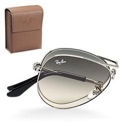 On the continuing folding sunglass trend ~ Ray-Ban Folding Aviators 3479