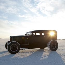 Hot Rods in Space by Ray Gordon. Beautiful photos by photographer Ray Gordon on the Bonneville Salt Flats.