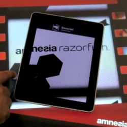 'Amnesia Connect' by Amnesia Razorfish allows users to freely move content between devices by simply dragging it off their smartphone/tablet onto a Microsoft Surface Table and back onto another device instantly.