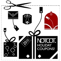 NOTCOT Holiday Coupons!!! Lots of discounts from many of our favorite stores/brands ~ quite a few added since it first went up! Happy Holidays!