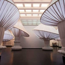Situ Studio rereads the space of the Great Hall at the Brooklyn Museum.  Fascinating and bit wild, this installation will be there till 15 Jan 2012. Photo by Keith Sirchio.