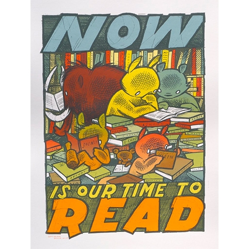 "The Bird Machine (Jay Ryan) ""Now is our time to read"" Print!"