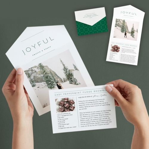 Minted All-In-One Greeting Cards with Tear-Off Recipe Cards.