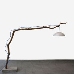 Reclaiming Brooklyn's Branch Lamp is made from a branch that fell in a hurricane that hit NYC last year.