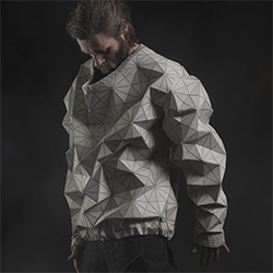 "Sruli Recht Lo Rez - Faceted ""Wooden Textiles"" collection made with Elisa Strozyk."