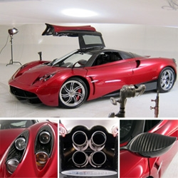 Peek behind the scenes of the 2011 Pagani Huayra photoshoot at Art Center en route to Pebble Beach... the design details of this supercar are breathtaking to say the least.