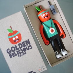 Is resin the new vinyl?By using resin artists are now able to create their own small run of art toys. Golden Delicious pictured is limited to just 5.