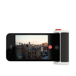 Take better iPhone snaps with a handy button add-on - Red Pop by Beep Industries.