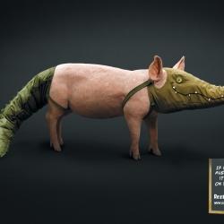 Reef n' Beef: Pig ~ advert from Saatchi & Saatchi, Copenhagen, Denmark.