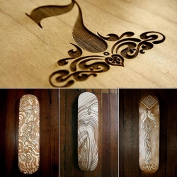 great laser cut skatedecks from refill seven.