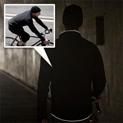 Nice reflective details on the sleek, simple, new Mission Workshop Trigger Riding Jacket