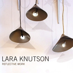 The Reflective Work by Lara Knutson ~ discovered at The Future Perfect during NY Design Week, a beautiful use of reflective glass fabric that is made from microscopic glass beads which magnify light 100 times combined with LEDs.