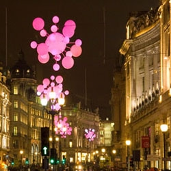 Interactive Christmas lights on London's Regent Street courtesy of Nokia and Wieden + Kennedy
