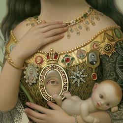 "Mark Ryden has a gorgeous new limited edition gold leafed giclee print based on his ""The Creatrix"" painting."