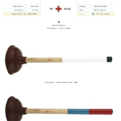 Re Made Company makes American Master Plungers with a bold, brave, inspiring style. [Editor's Note: Ha! Quite the commentary on Best Made Co.]