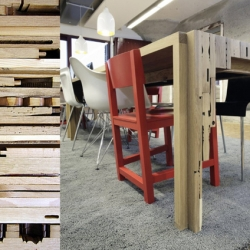 Replex Tafel by dutch designers from Oormerk is beautiful in its details. Old furniture are cut into pieces and rebuilt to give this table a special structure and an adorable look.