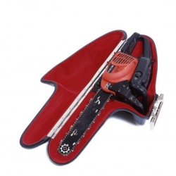 No longer do you have to worry about a carrying case for that cumbersome chain saw.  Suitcases also available for watering cans, furniture dollies and motor bikes.