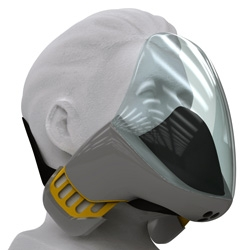 For his Degree 2009 Project, Designer Elijah Stillson decided to do something for his ilk. He designed a mask that is comfortable to work in, while modeling his works.