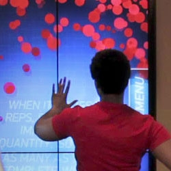 A seven-foot motion-activated interactive wall developed for Bally Total Fitness. Integrates Adobe Flash and Microsoft Kinect using the SoftKinetic IISU SDK.