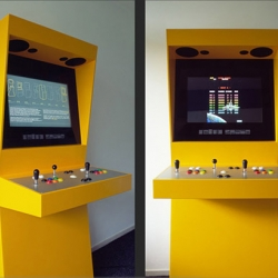 Netherland-based designer Martijn Koch made updated an arcade setup from the 70s, and hooked it up with a HD screen so you can play all your favorite old titles in High-def!
