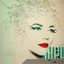 New poster from Almudena González. Retro Vintage fashion still alive!