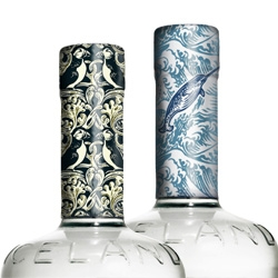 Reyka Vodka - remember the brilliantly cute ads? Well the graphic design on their foil wraps are just as cute. See all 8 patterns.